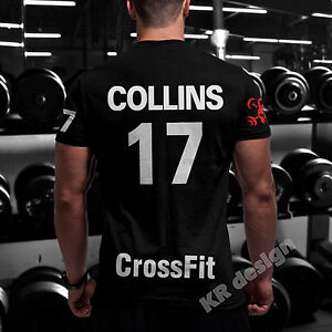 CrossFit-Tshirt-YOUR-NAME-Training-Functional-Sport-Workout-Strength-Gym-WOD