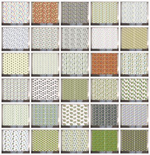 Conjunto de 2 Paneles Cortinas exóticas y cactus Decoración 5 Tamaños Disponibles Ventana Cortinas