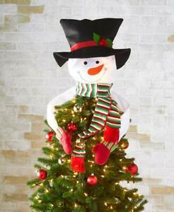 Adorable Hugging Frosty The Snowman Christmas Tree Topper