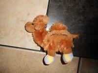 Jerusalem Plush Camel Tan Souvinir Soft Stuffed Lovey Pastel Feet 6