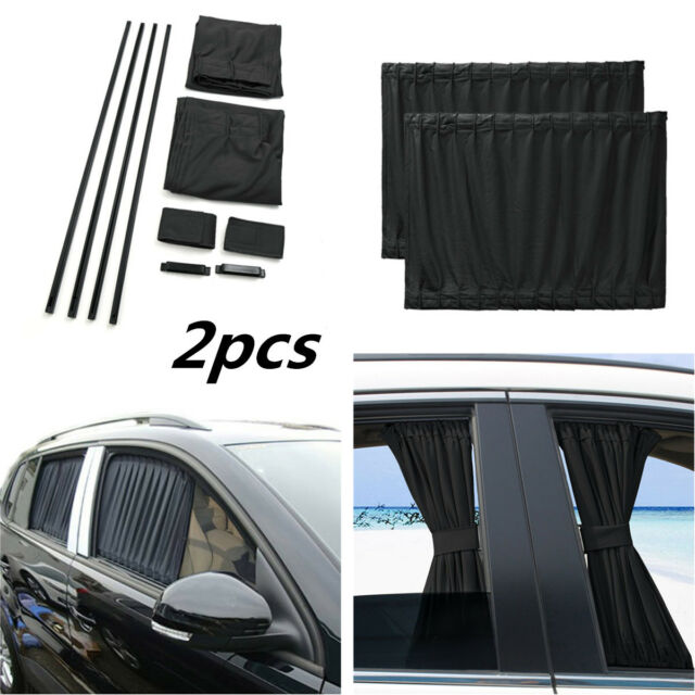Car SUV Window Screen Curtain Sun Visor UV Sunshade Grey 50*39S Aluminum Rail
