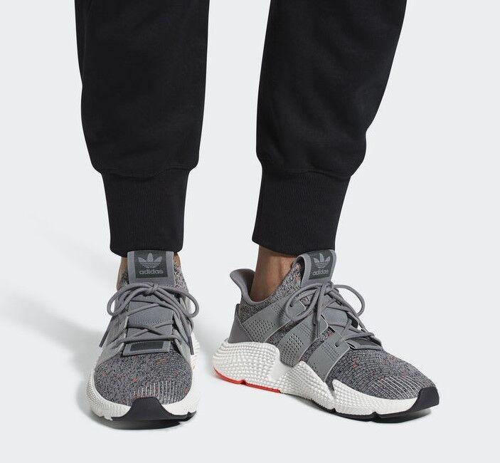 adidas Männer Originals Prophere Schuh CQ3023 Core Grau Turnschuh Knit PK NEU