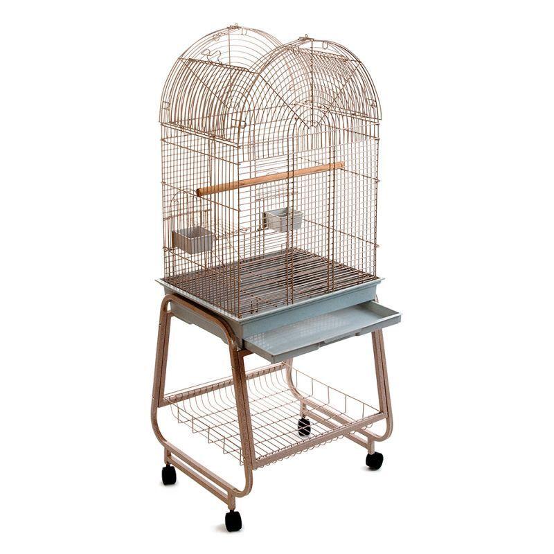 voliera gabbia per uccelli pappagalli uccellini metallo esotici con piedistallo