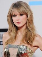 Charming Long Layered Loose Wave Celebrity Hairstyle Golden Hair Wig