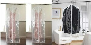 H-amp-L-RUSSEL-SET-OF-2-CLEAR-GARMENT-DRESS-SUIT-CLOTHES-COAT-COVER-TRAVEL-ZIP-BAG