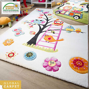 Image Is Loading Modern Kids Rug Modena Childrens Rugs Collection Owl
