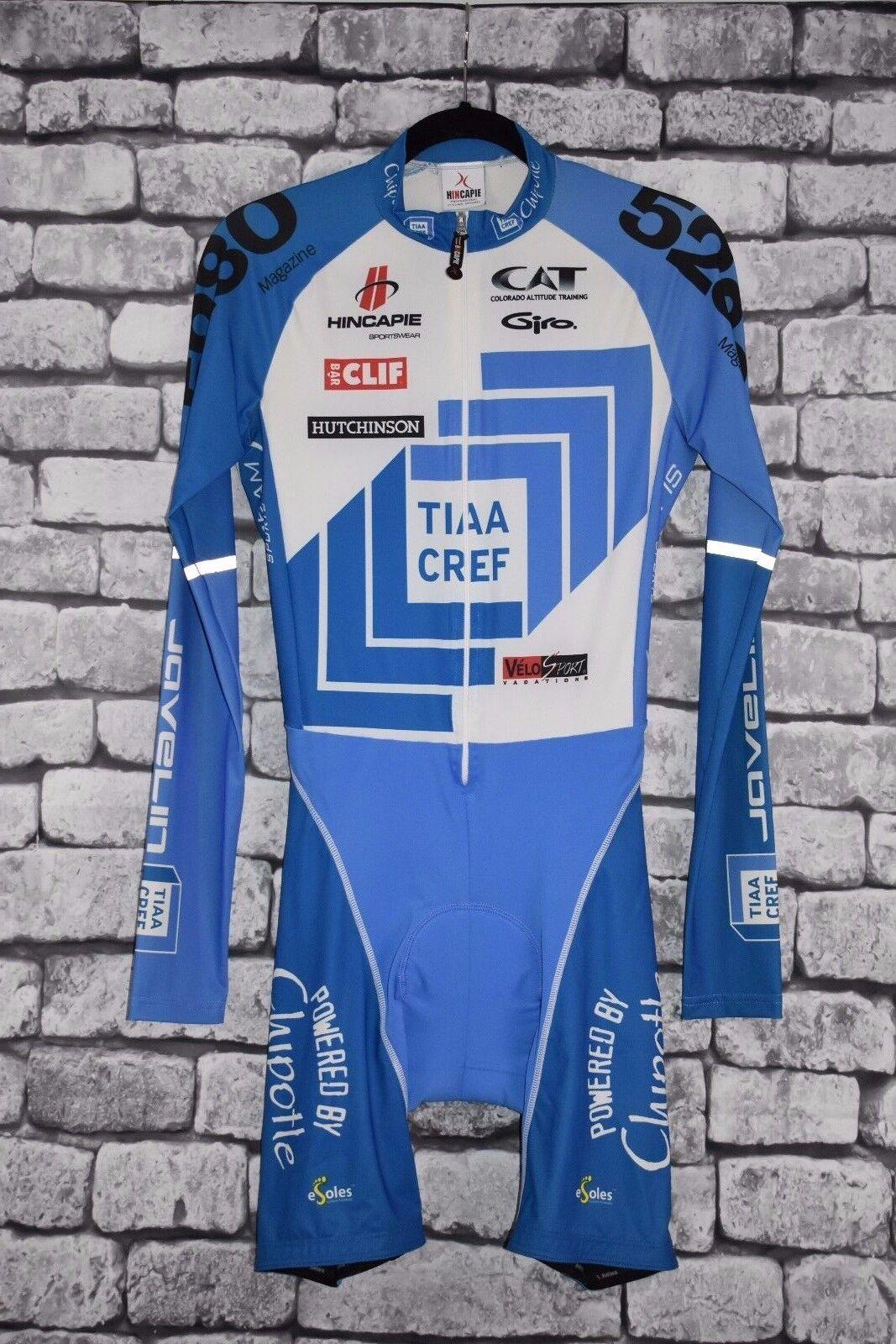 Hincapie TIAA CREF  Team Cycling Skinsuit Long Sleeve Size Medium  good reputation