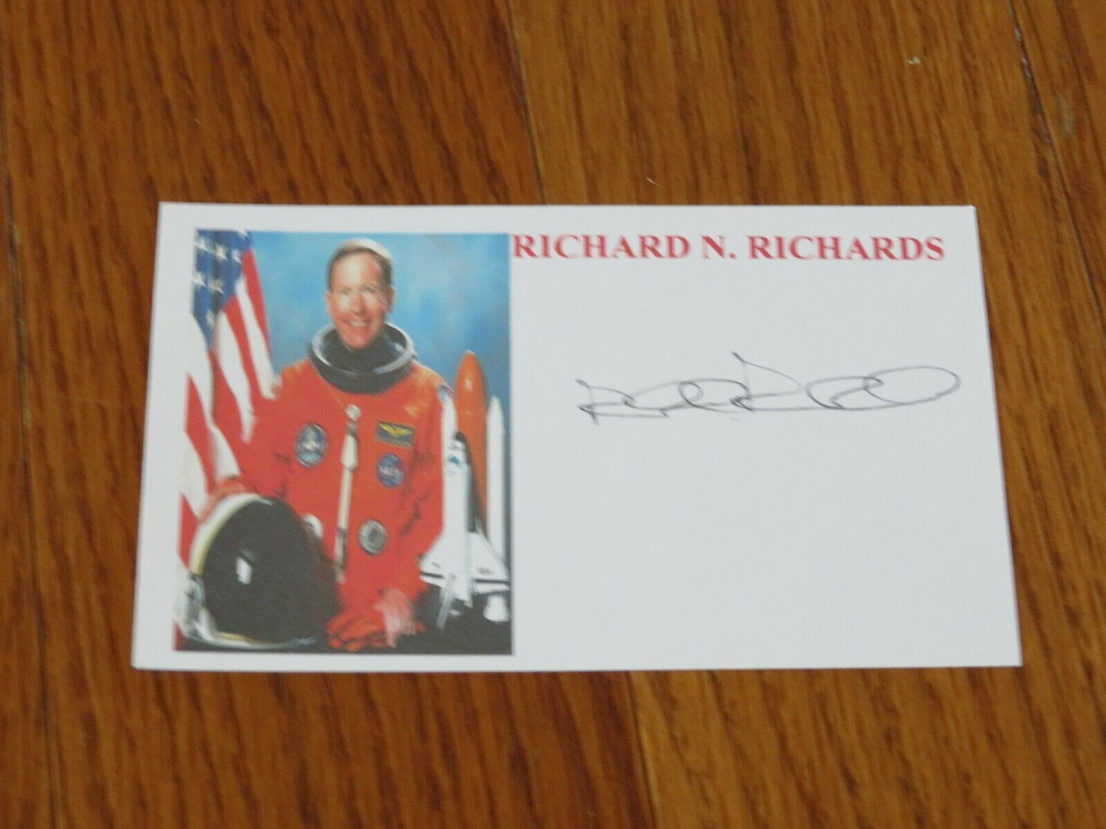 s l1600 - Richard Richards Autographed 3x5 Card Hand Signed Space NASA Astronaut