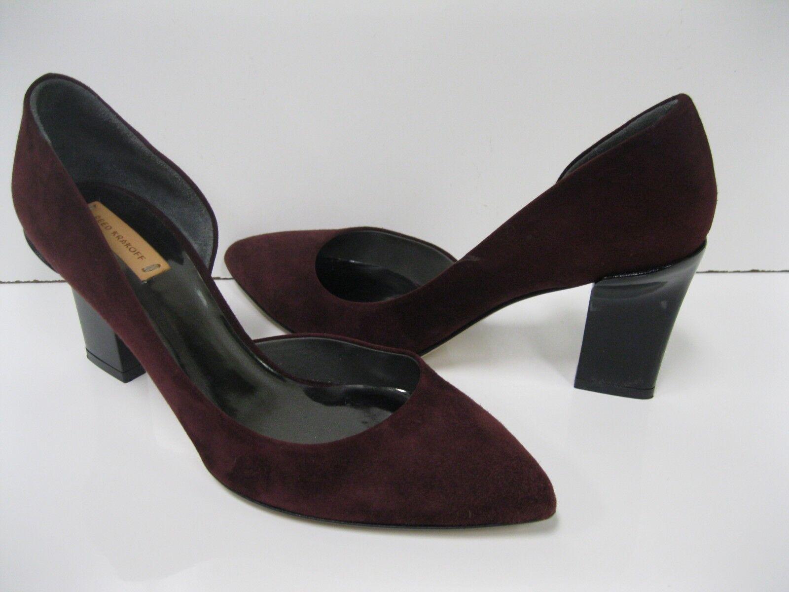 solo per te REED KRAKOFF Burgundy Suede High Heel Pumps Heels scarpe 37.5 37.5 37.5 EUC  presa di fabbrica