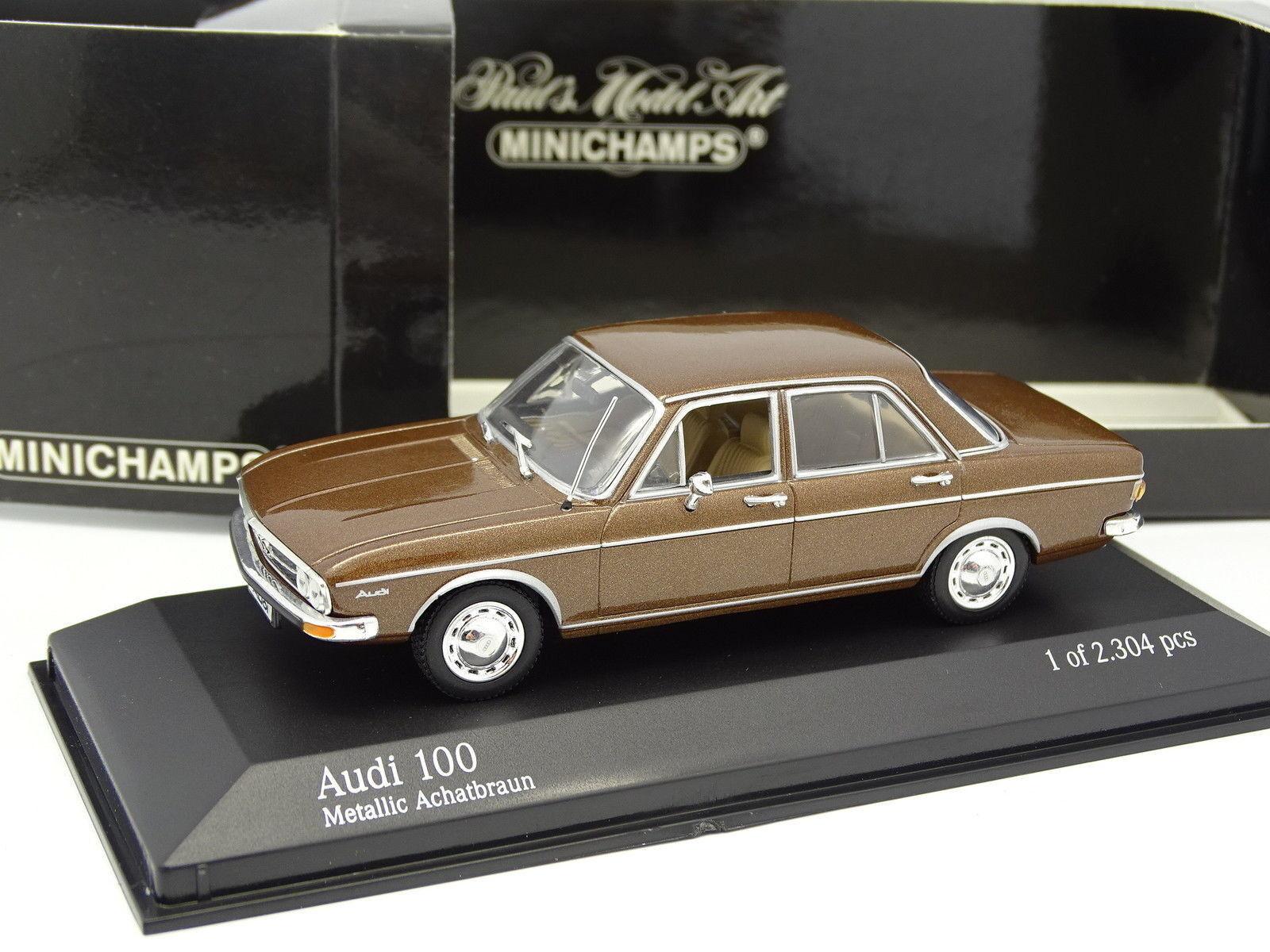 Minichamps Minichamps Minichamps 1 43 - Audi 100 marrón 1969 b2ac40