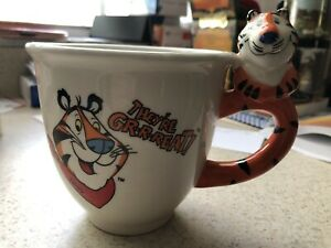 Tony-The-Tiger-Coffe-Mug-Cup-Kellogg-s-They-re-Grrreat-Cat-Handle-Cereal