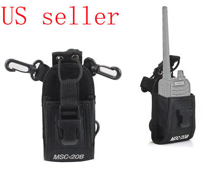 CASE FOR VERTEX STANDARD VX451 RADIO NYLON HOLSTER BELT LOOP CARRY SNAP POUCH