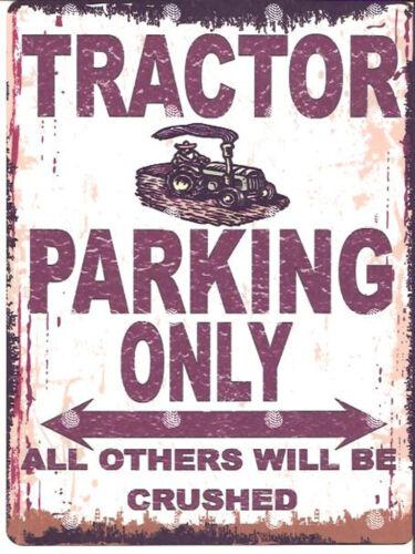 TRACTOR PARKING SIGN RETRO VINTAGE STYLE 8x10in 20x25cm garage workshop art