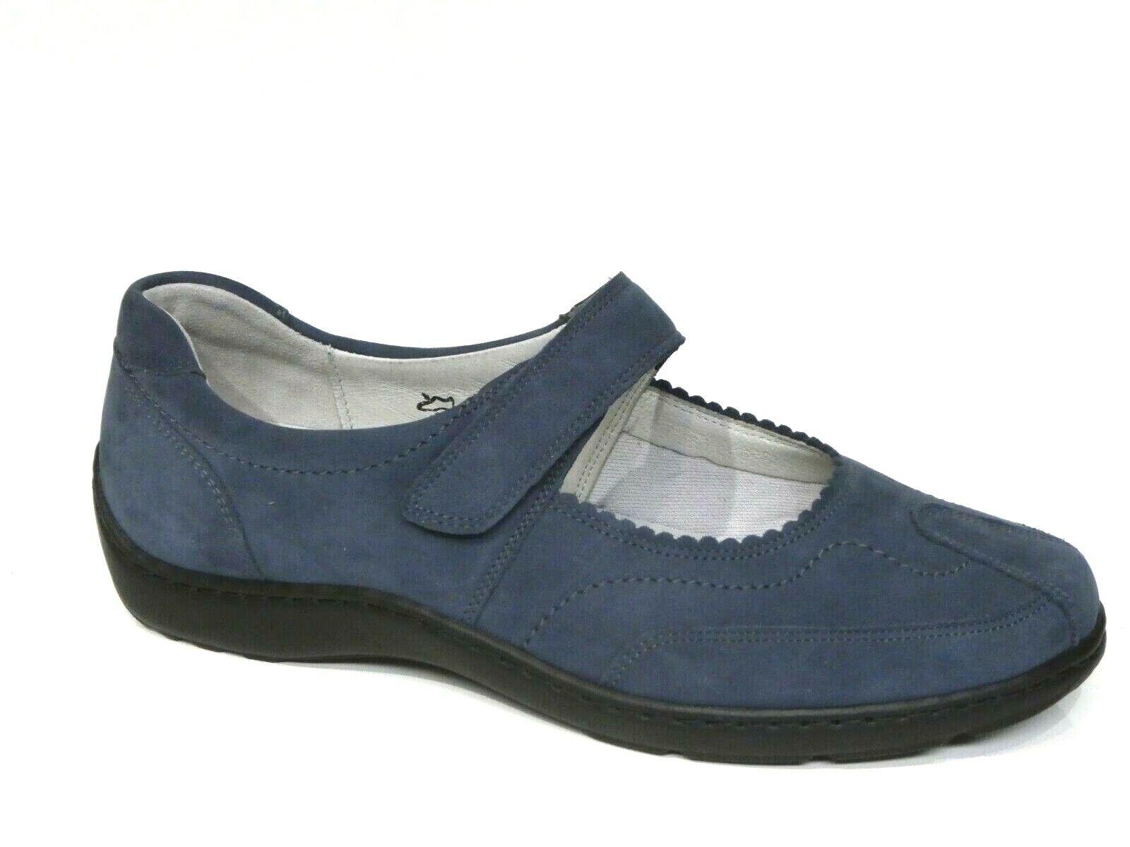 Waldläufer Schuhe Henni Slipper Ballerina blau jeans Leder Einlagen 496302