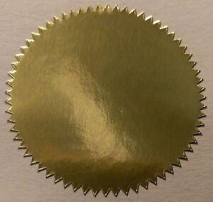 Gold Shiny Foil - Certificate / Company / Envelope Seals 41mm