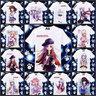 Japanese Anime Angel Beats Clothing DIY Costume summer T-shirt 11 colours