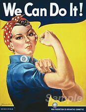 VINTAGE WE CAN DO IT WAR POSTER A3 PRINT