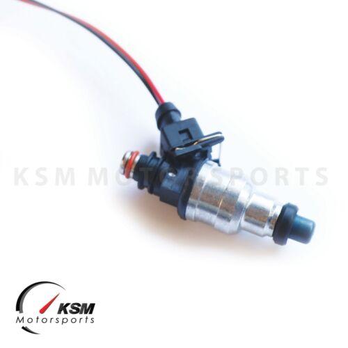 Set 550cc Fuel Injectors Fit Honda OBD1 OBD2 B16 B18 B20 D15 D16 D18 F22 H22