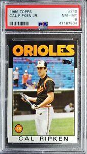 1986 Topps Cal Ripken Jr PSA 8 NM- Mint HOF Baltimore Orioles Great Card!