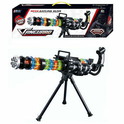 M134 LASER LIGHT GATLING GUN TOY LIGHTS SOUND /& STAND G
