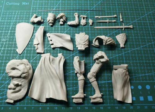 -90mm  figure Assembly  Unpainted  Scale 1//18 90mm Knight of the Holy Sepulcher