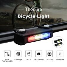 Bike Taillights Light ThorFire Ultra Bright USB Rechargeable Bicycle 7 Modes On