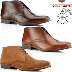 Homme-Vrai-Daim-Retro-Decontractee-Marche-Chukka-Dentelle-Desert-Cheville-Bottes-Chaussures-Taille