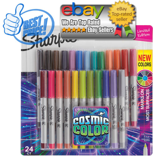 24 coun Sharpie Permanent Markers Ultra Fine Point Cosmic Color Limited Edition