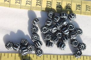 7x4-5mm-6-Layer-Black-amp-White-Chevron-Glass-Rondelle-Beads-35-beads