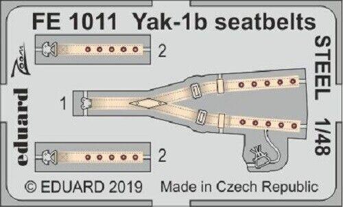 Eduard Zoom FE1011 1//48 Yakolev Yak-1B ceintures de sécurité en acier ZVEZDA