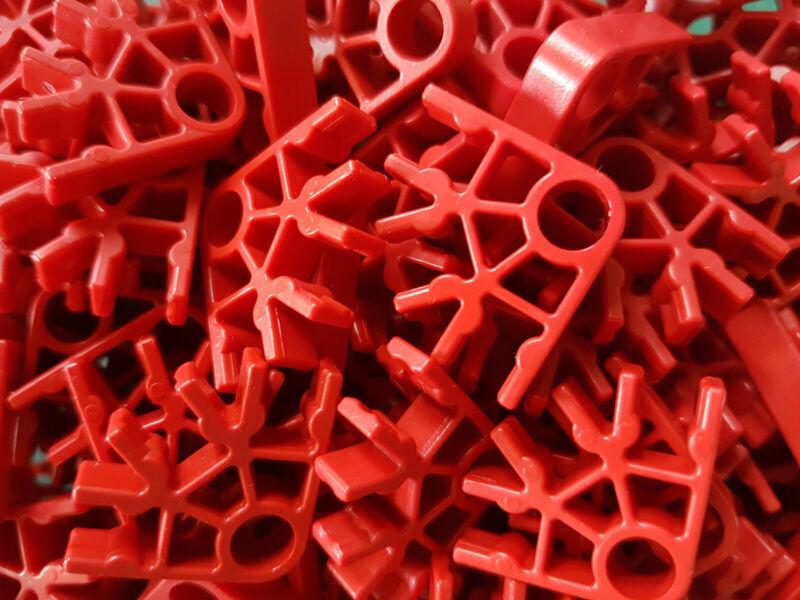 Clásico Knex Conectores Gris Oscuro C14 K /'nex de repuesto granito 30x 3-way