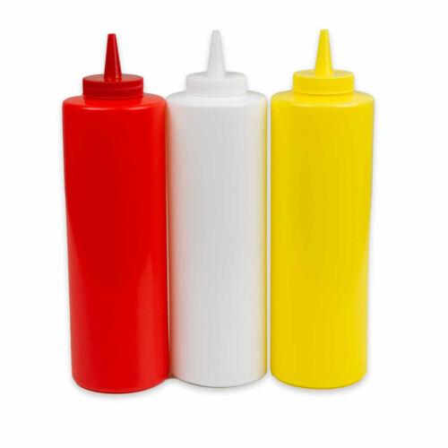 Ketchupflasche Quetschflasche Mayonaiseflasche Saucenflasche Spenderflasche Set