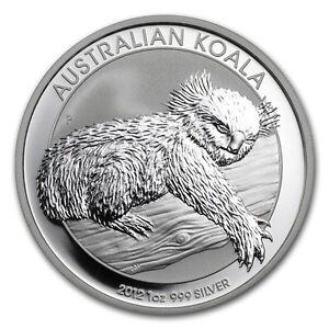 JT754 2012 Australia Koala .999 Silver 1 oz bullion Coin $1 Dollar Ounce