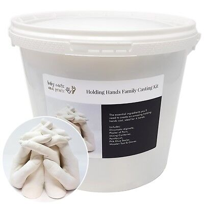 All in one bucket casting plaster hand casting kit family alginate