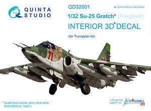 Quinta-QD32001-1-32-Su-25-3D-Printed-amp-coloured-interior-for-Trumpeter-kit