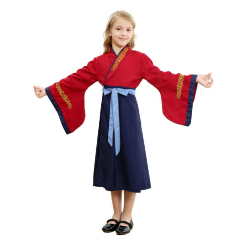 Children Mulan Princess Dress up for Girls Uniform Evening Party Cosplay Costume