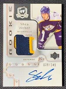 2006-07-UD-Upper-Deck-The-Cup-Shea-Weber-Auto-Rookie-Patch-RC-249-ARP-RPA-3CLR