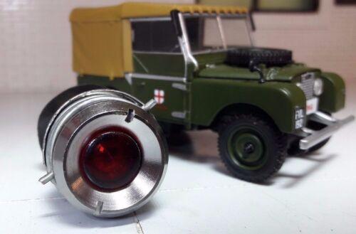 Land Rover Series 1 Dash Panel 238018 Red Ignition Warning Light Chrome Bezel