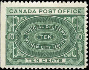 Canada-Mint-H-1898-F-Scott-E1-10c-Special-Delivery-Stamp