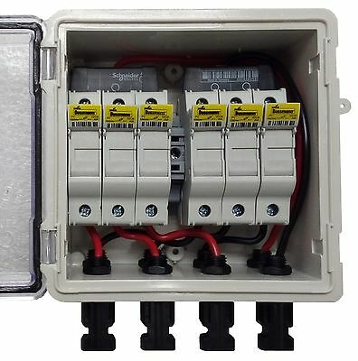 PV Solar 3-String DC Combiner Box with 6 fuses - Pre-wired | eBay on