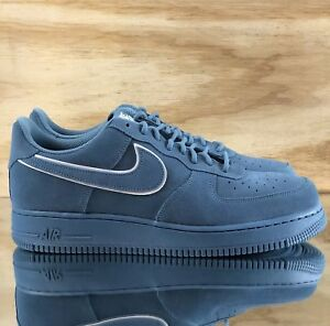 Nike-Air-Force-1-039-07-LV8-Suede-Noise-Aqua-Blue-Suede-White-AA1117-400-Multi-Size