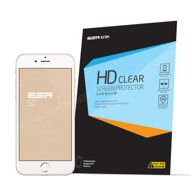 3PCS ESR  Anti-scratch Front Clear Screen Protectors HD Film for iPhone 6 4.7""