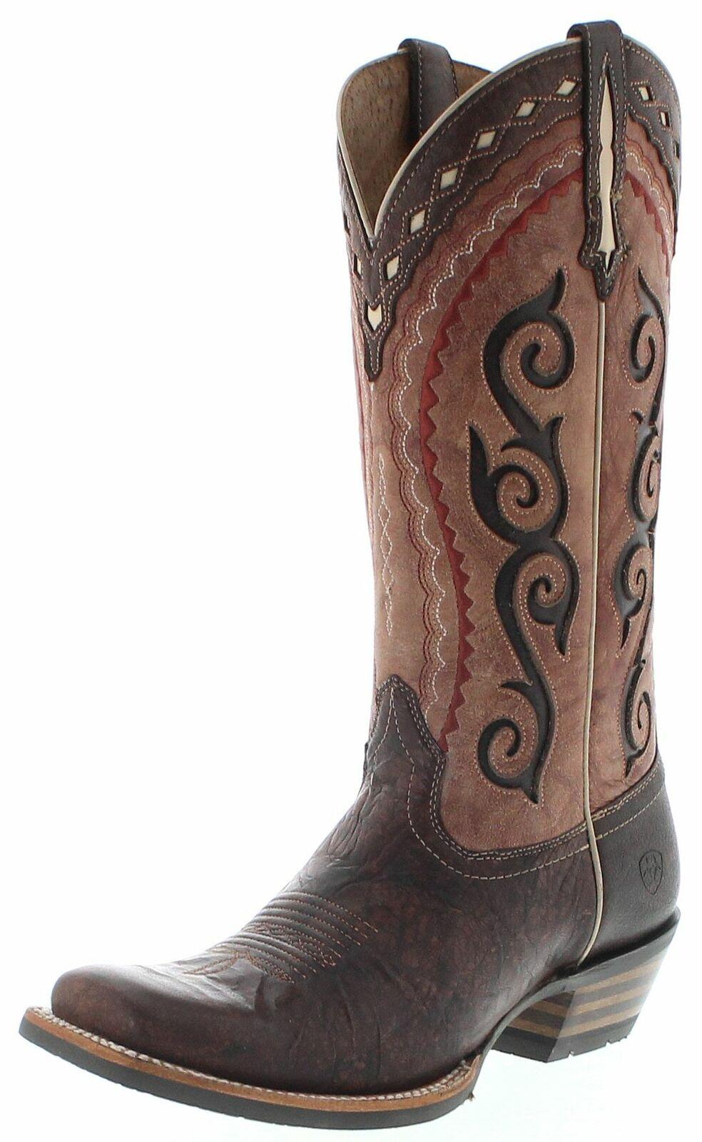 Ariat 25053 COWTOWN CUTTER Cocoa Damen CowboyStiefel Westernreitstiefel Braun