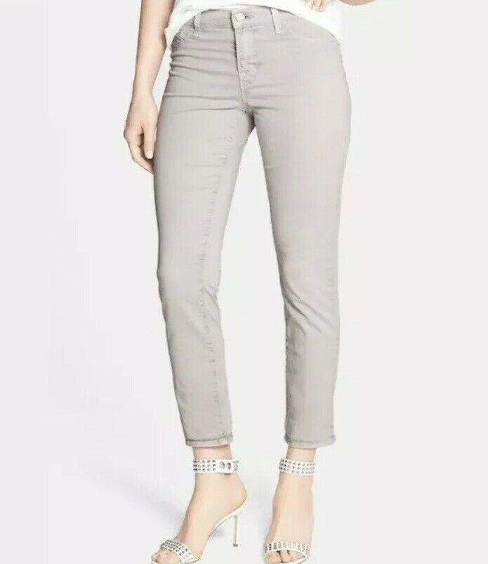 J BRAND Rail Skinny Straight Crop Twill Jean in Vintage Grey Size 29