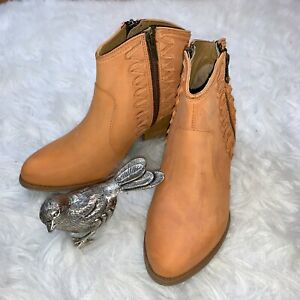 Cloud Western Leather Ankle Boots Size