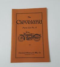 CLEVELAND MOTORCYCLE PARTS LIST NO. 6 19 PGS.  ALL BLACK & WHITE