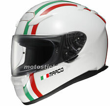 2 Nomi adesivi casco + bandiera - per mentoniera casco moto auto