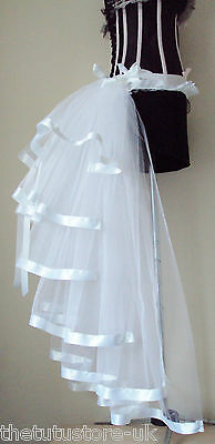 White Burlesque Moulin Rouge Bustle Belt S M L X L Sexy Bridal Fancy Dress