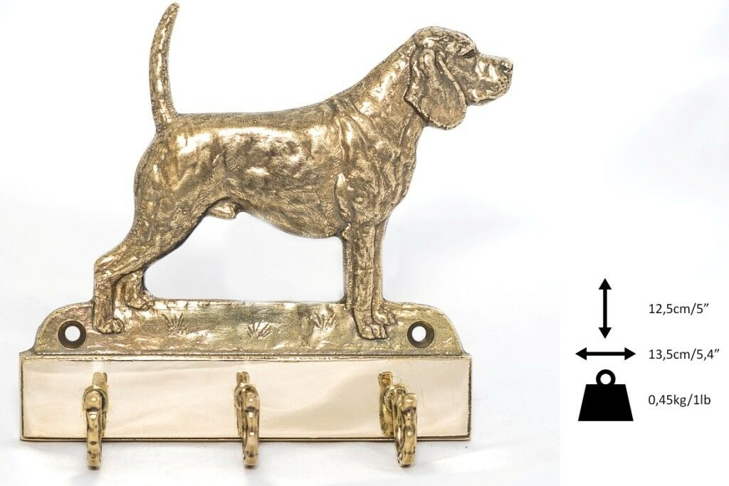 Beagle  cintre en laiton avec un  en, haute qualité, Art Dog FR