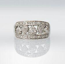 10K White Gold & Diamond Heart Ring